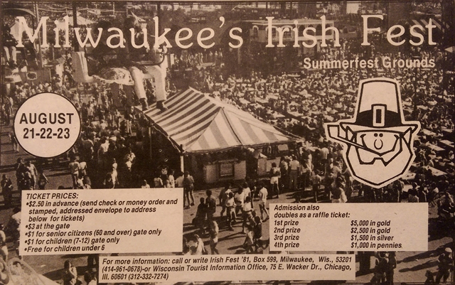 Newspaper from 1981 for first Milwaukee Irish Fest