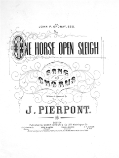 One Horse Open Sleigh - Lester S. Levy Sheet Music Collection