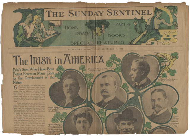 St. Patrick's Day, 1912 - Milwaukee Sunday Sentinel