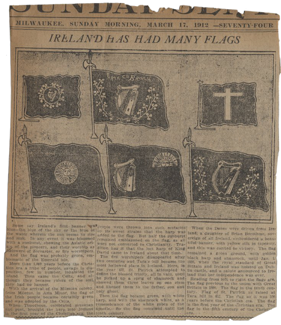Ireland Has Had Many Flags, 1912