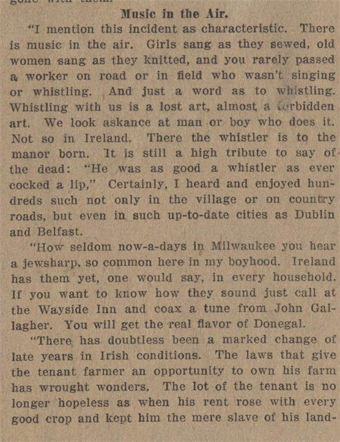 On the Morning of Ireland's New Day - 1913